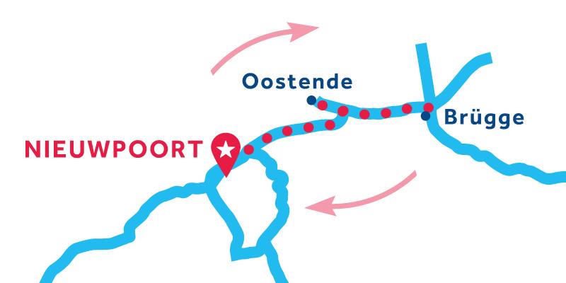 Karte Belgien