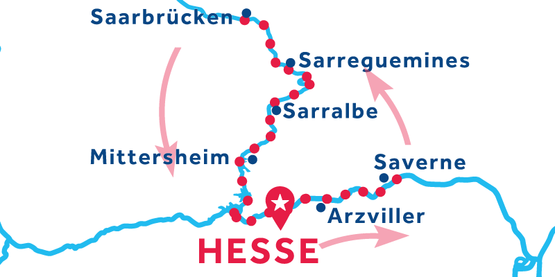 Hesse return via Saverme and Saarbrucken