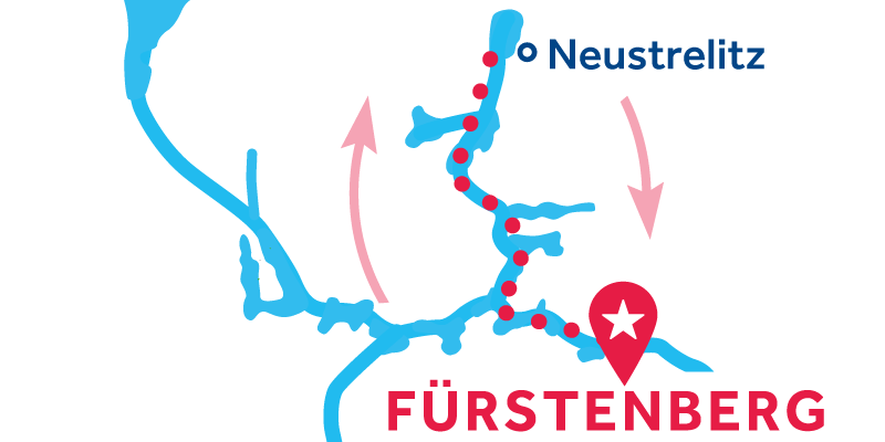Fürstenberg ALLER-RETOUR via Neustrelitz