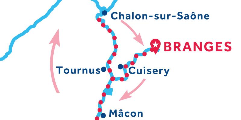 Branges RETURN via Mâcon & Chalon-sur-Saône