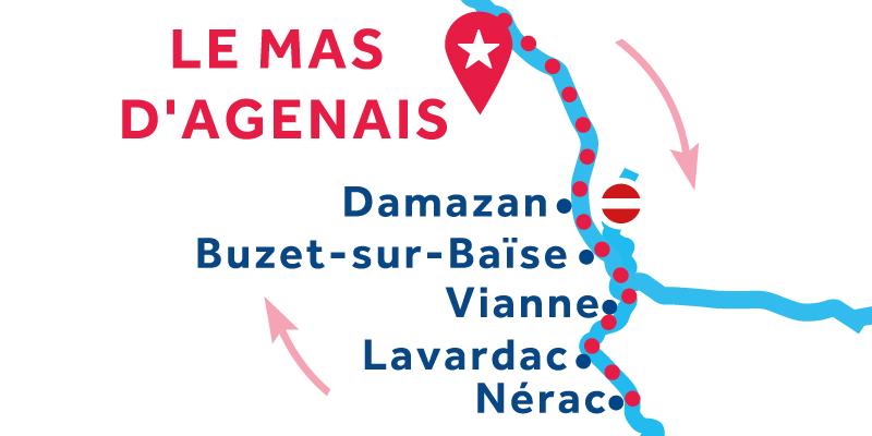 Le Mas-d'Agenais RETURN via Nérac