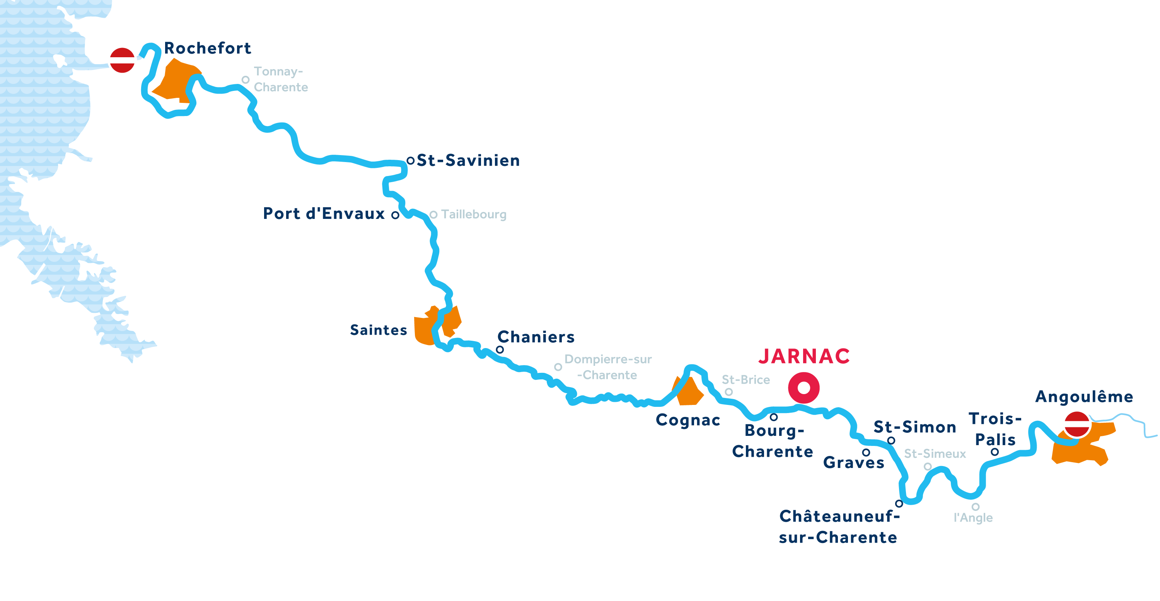 Karte: Charente