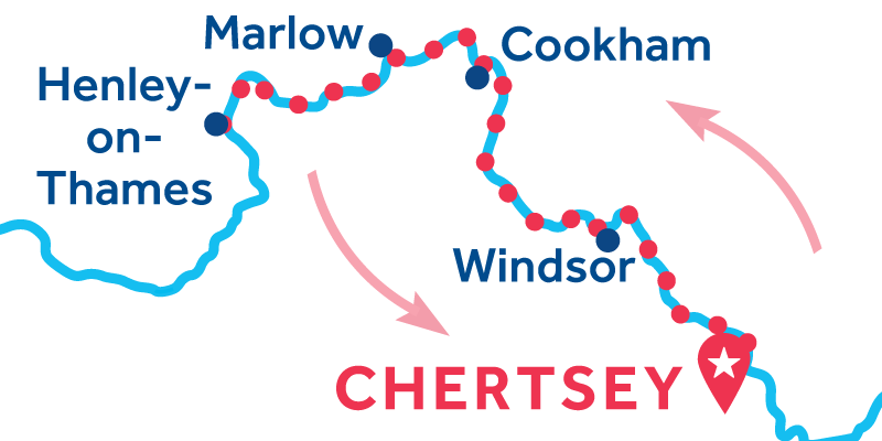 Chertsey RETURN via Henley-upon-Thames
