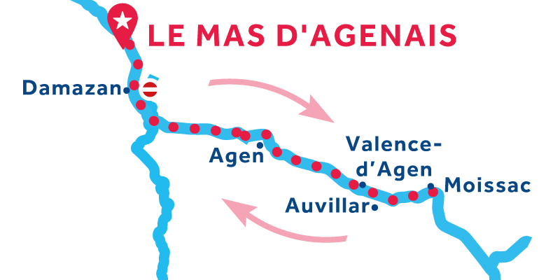 Le Mas-d'Agenais RETURN via Moissac