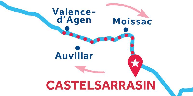 Castelsarrasin RETURN via Valence d'Agen