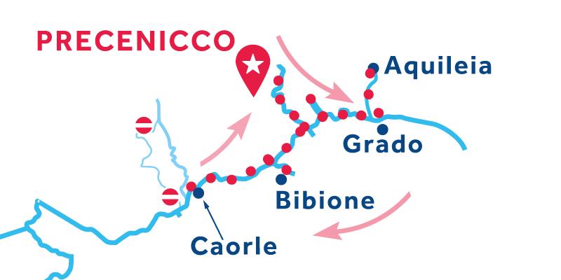 Precenicco RETURN via Marano, Caorle & Portogruaro