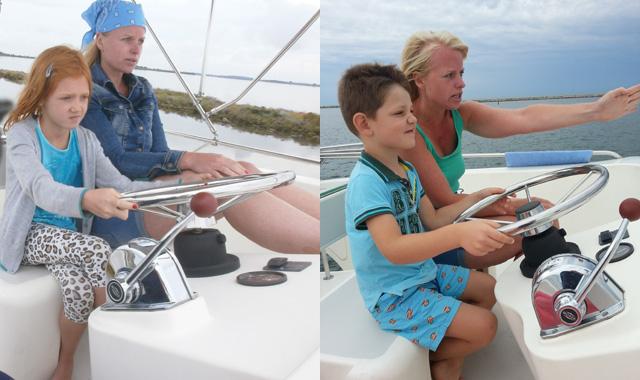 Boot fahren Kinder
