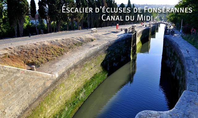 Les écluses de Fonsérannes, Canal du Midi
