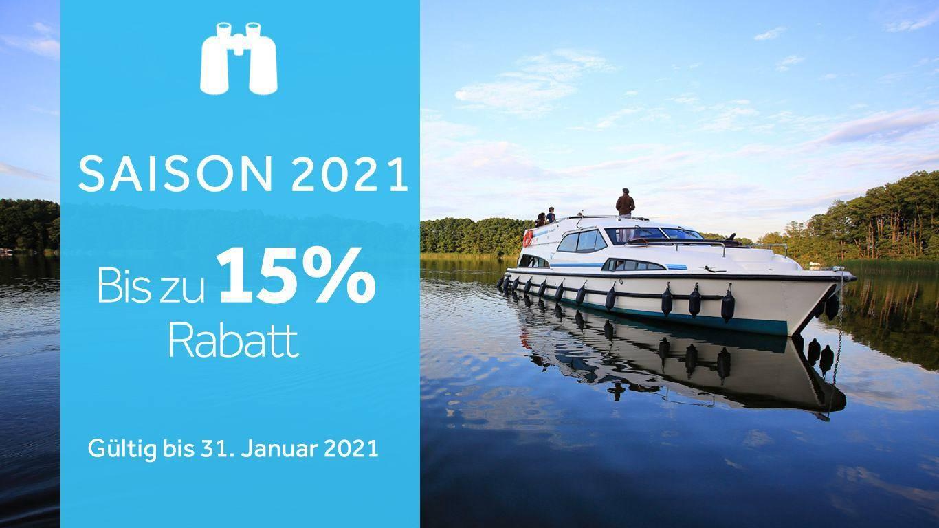 Jetzt bis zu 15% auf Ihre Bootsferien sparen