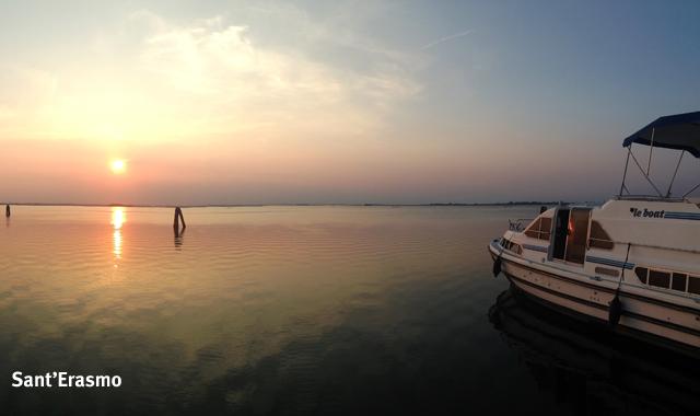 Sonnenuntergang auf Sant'Erasmo