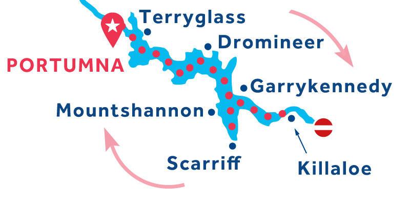 Portumna RETURN via Killaloe & Mountshannon