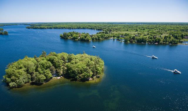 Luftaufnahme der kanadischen Seen