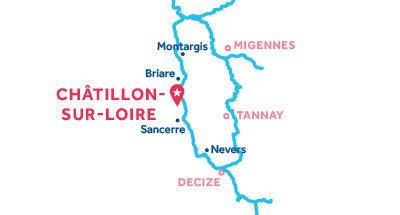 Karte zur Lage der Basis Châtillon-sur-Loire