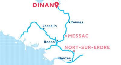 Karte zur Lage der Basis Dinan
