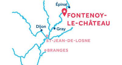 Carte de situation de la base de Fontenoy-le-Château