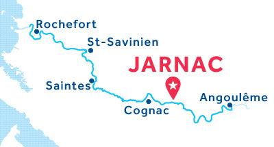 Karte zur Lage der Basis Jarnac