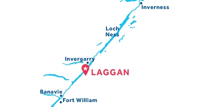 Carte de situation de la base de Laggan