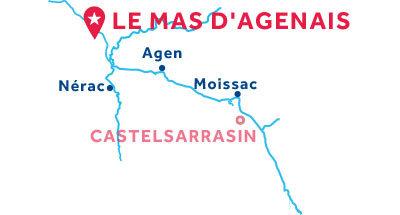 Karte zur Lage der Basis Le Mas d'Agenais