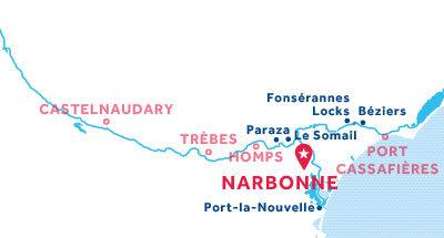 Karte zur Lage der Basis Narbonne