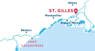 Carte de situation de la base de St. Gilles