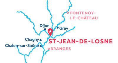 Karte zur Lage der Basis Saint-Jean-de-Losne