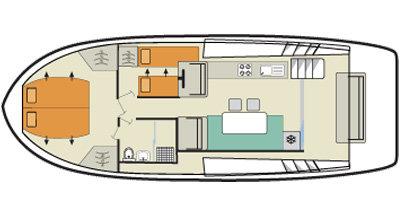 Horizon 1 - Plan du bateau