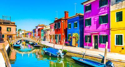 Les rues colorées de Burano