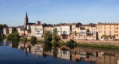 Rivière paisible à Montauban