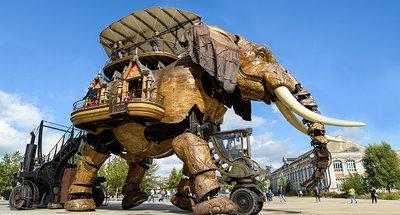 Éléphant mécanique à Nantes