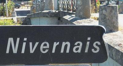 Schild Nivenais im Burgund