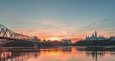 Sonnenuntergang über Ottawa