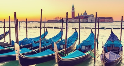 Gondoles à Venise, Italie