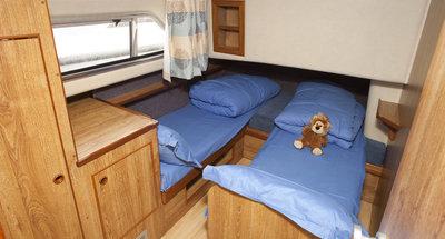 Kabine des Hausbootes Classique von Le Boat