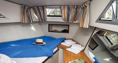 Bugkabine des Hausbootes Corvette von Le Boat