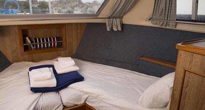 Bugkabine des Hausbootes Crusader von Le Boat
