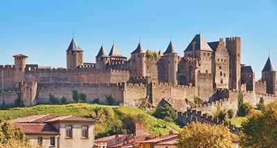 Carcassonne sur le canal du midi