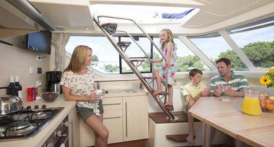 Salon des Hausbootes Vision von Le Boat
