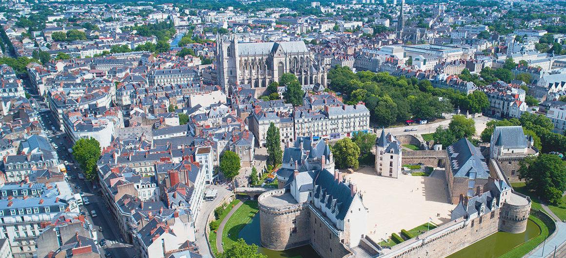 Luftaufnahme von Nantes, Bretagne