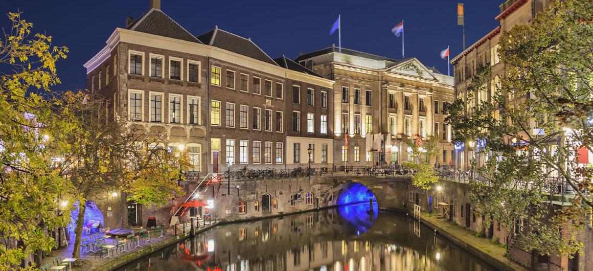Kanal bei Nacht, Utrecht