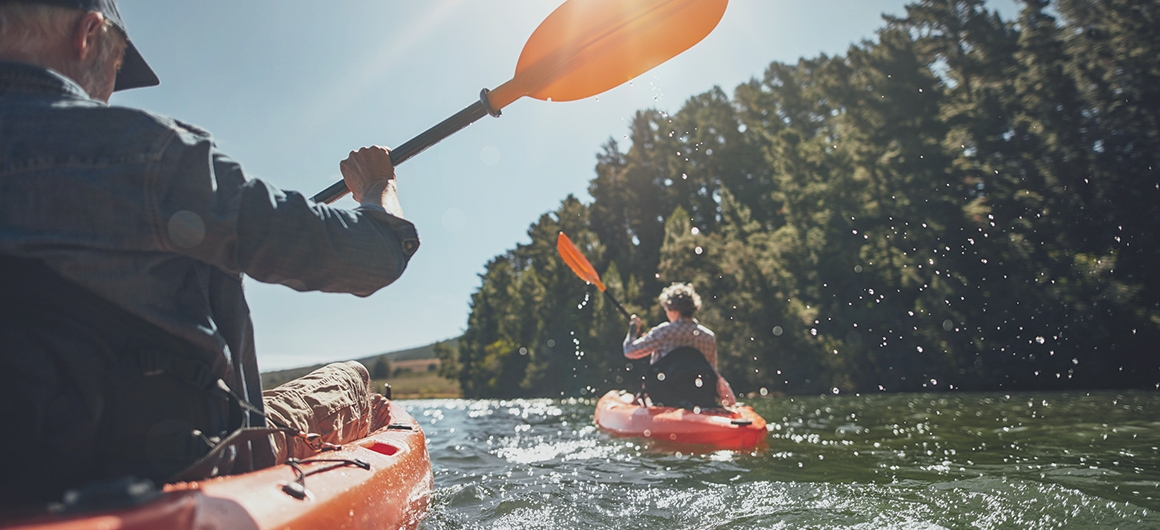 Canoë-kayak sur les lacs du Canada