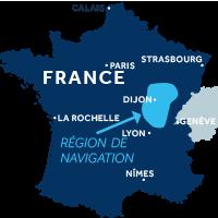 Carte Bourgogne Franche-Comté en France