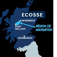 Zone de navigation sur le Canal Calédonien en Écosse